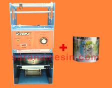 mesin cup sealer dan plastik lid