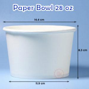 Jual Paper Bowl 28 Oz Murah ( Hot )