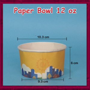Paper Bowl 12 oz printing Murah