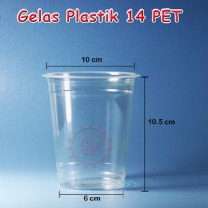 Gelas Plastik PET 14 oz Murah