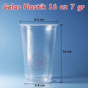Gelas Plastik 16 oz 7 gr Premium