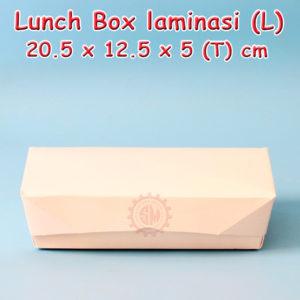 Paper Lunch Box / Kotak Nasi kertas Laminasi L