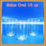 Gelas Plastik Oval 16 oz