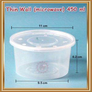 Thinwall 450 ml (bulat)